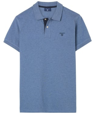 Men's GANT Contrast Collar Pique - Denim Blue Melange