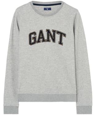 Women's GANT Gold Chenille Sweatshirt - Grey Melange