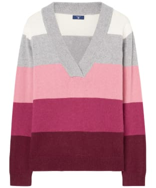 Women's GANT Multicoloured Striped Sweater - Brandy Apricot