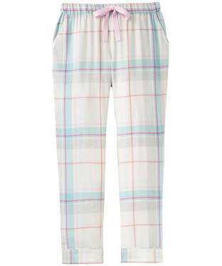 Women's Joules Snooze Pyjama Bottoms - Pink Blue Check