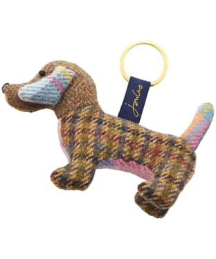 Women's Joules Tweedle Novelty Tweed Keyring - Hound