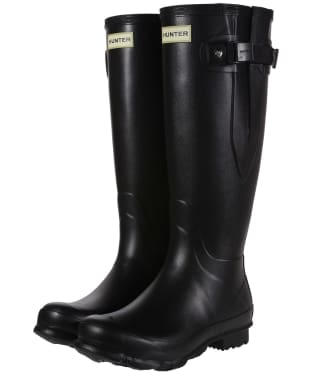 Women's Hunter Norris Field Side Adjustable Wellington Boots - Black