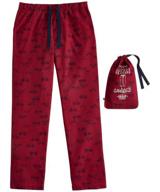 Men's Joules Sleeper Print Lounge Trousers - Rugby Red Bike