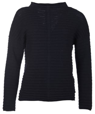 Women's Barbour Linton Knit Sweater - Navy