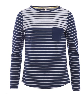 Women's Barbour Selsey Top - Grey / Navy