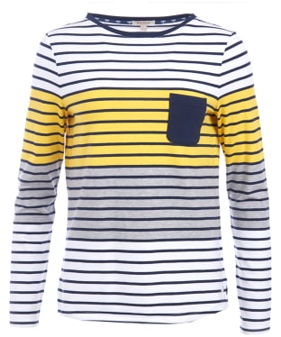 Women's Barbour Selsey Top - White / Yellow