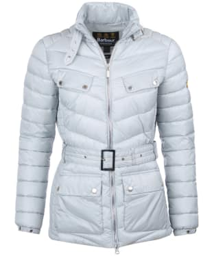 Women's Barbour International Gleann Quilt - Ice White