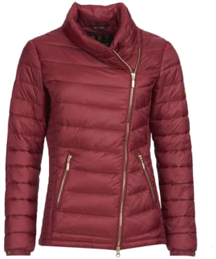 Women's Barbour International Jurby Quilted Jacket - Deep Red
