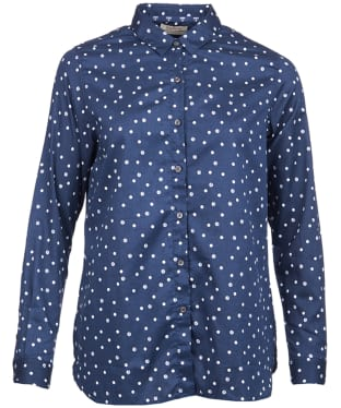 Women's Barbour Faeroe Printed Shirt - Navy / White Beacon