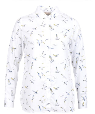 Women's Barbour Faeroe Printed Shirt - White Seagull