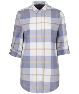 Women's Barbour Wester Check Shirt - Blue Marl Check