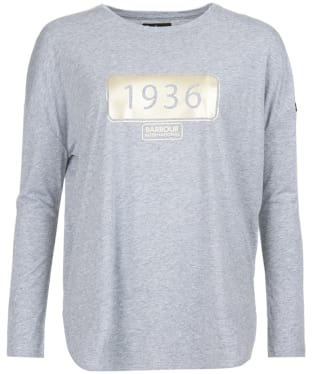 Women's Barbour International Trail Tee - Light Grey Marl