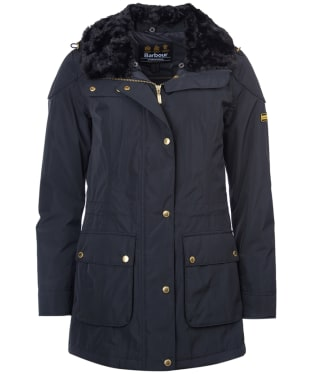 Women's Barbour International Garrison Waterproof Jacket - Black