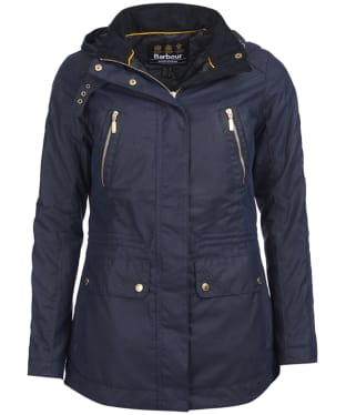 Women's Barbour International Ridge Wax Jacket - Royal Navy