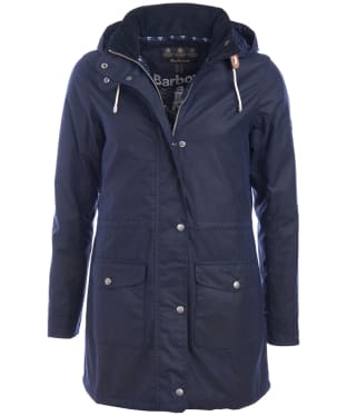 Women's Barbour Selsey Waxed Jacket - Royal Navy