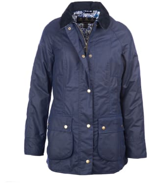 Women's Barbour Liberty Rachel Wax Jacket - Royal Navy