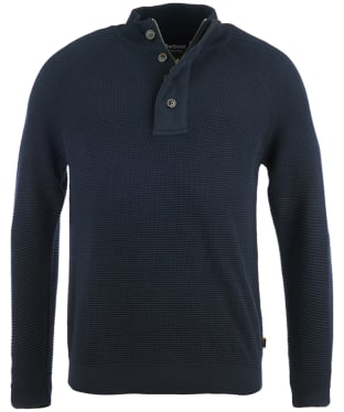 Men's Barbour International Capacitor Half Button Sweater - Navy