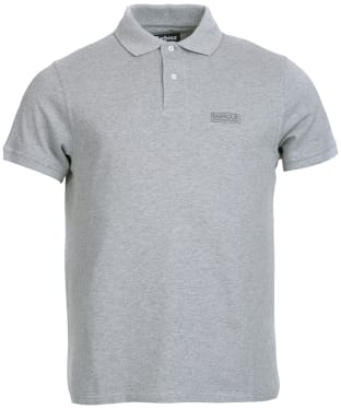 Men's Barbour International Essential Polo - Grey Marl