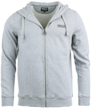 Men's Barbour International Essential Hoody - Grey Marl