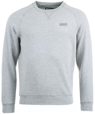 Men's Barbour International Essential Crew Neck Sweat - Grey Marl
