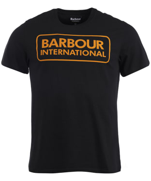Men's Barbour International Essential Large Logo Tee - Black