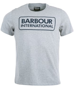 Men's Barbour International Essential Large Logo Tee - Grey Marl