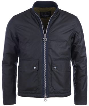 Men's Barbour International Injection Wax Jacket - Navy