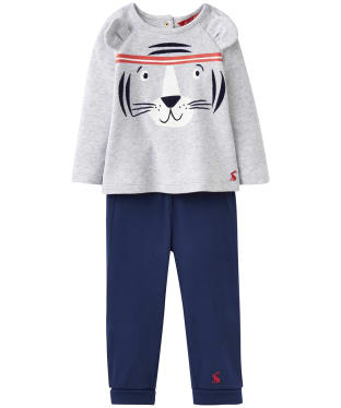 Boy's Joules Baby Mack 2 Piece Set, 3-9m - Grey Tiger