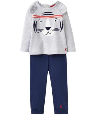 Boy's Joules Toddler Mack 2 Piece Set, 9-24m - Grey Tiger
