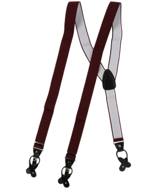 Men's Soprano Luxury Braces - Wine