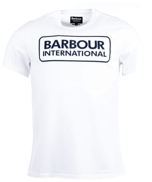 Men's Barbour International Essential Large Logo Tee - White