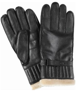 Men's Barbour Leather Utility Gloves - Black