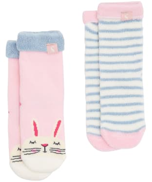 Girls Joules Baby Terry Character Socks 2-Pack, 0-3yrs