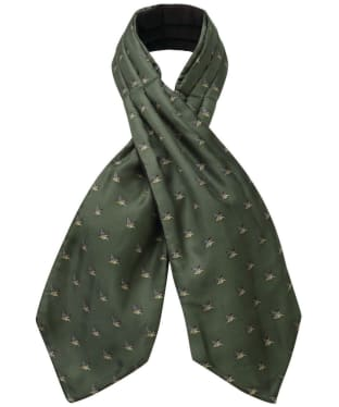 Men's Schöffel Silk Shooting Cravat - Dark Olive