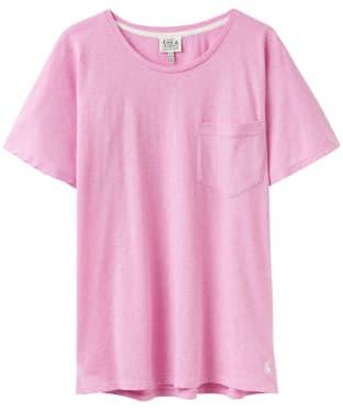 Women's Joules Posey Jersey Pyjama Top - Soft Pink