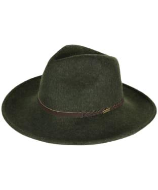 Barbour Tack Fedora Hat - Olive Melange