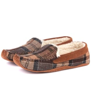 Women's Barbour Betsy Slippers - Camel Tartan