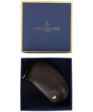 Women's Fairfax and Favor Chatham Coin Purse - Chocolate Leather
