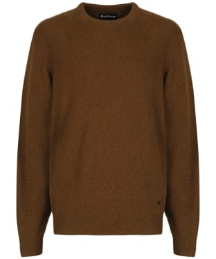 Men's Barbour Patch Crew Neck Lambswool Sweater - Bracken