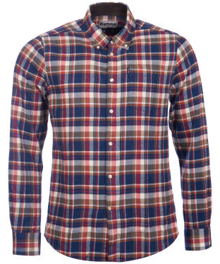 Men's Barbour Blake Check Shirt - Red Check