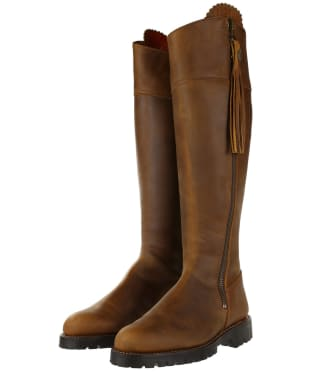 Women's Fairfax & Favor Imperial Explorer Boots - Oak Leather