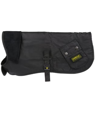 Barbour International Wax Dog Coat - Black