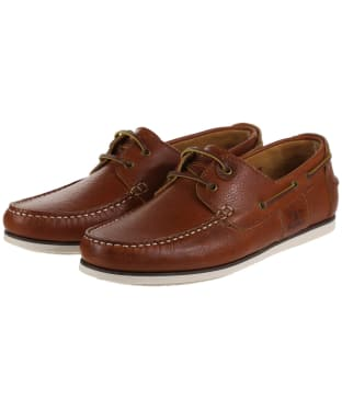 Men's Barbour Capstan Boat Shoes - New Cognac