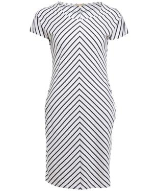 Women's Barbour Whitmore Dress - White / Navy / Yellow