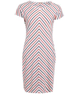 Women's Barbour Whitmore Dress - White / Navy / Signal Orange