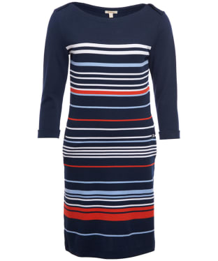 Women's Barbour Whitby Dress - Navy / Signal Orange