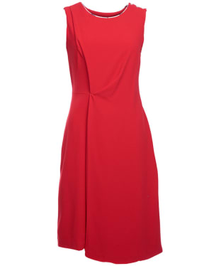 Women's Barbour Leathen Dress - Tartan Red