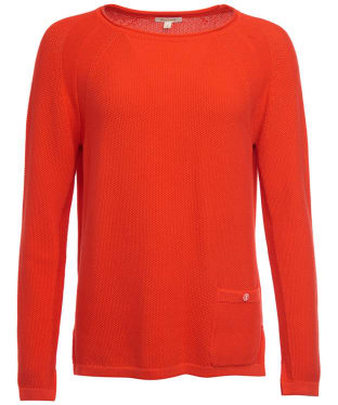 Women's Barbour Pembrey Knitted Sweater - Signal Orange