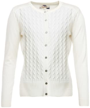 Women's Barbour Hett Knitted Cardigan - Cloud