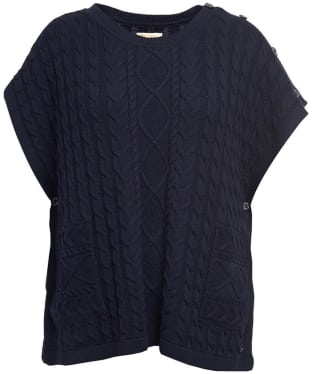 Women's Barbour Maidenlaw Knitted Cape - Navy